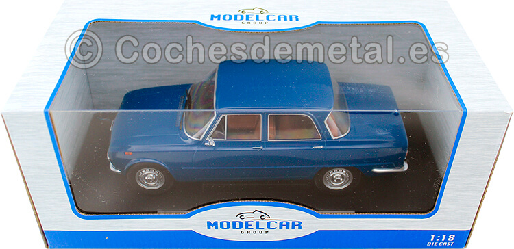 1974 Alfa Romeo Giulia Nuova Super 1600 Azul 1:18 MC Group 18147