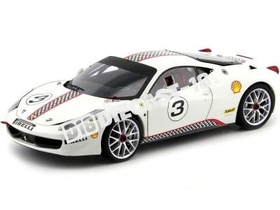 2010 Ferrari 458 Italia Challenge Blanco 1:18 Hot Wheels Elite X5487 Cochesdemetal.es