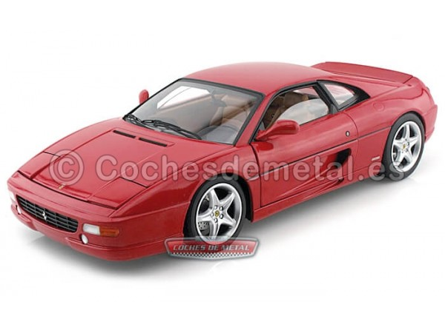 1994 Ferrari F355 Berlinetta Rojo 1:18 Hot Wheels Elite X5477 Cochesdemetal.es