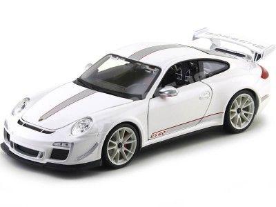 2012 Porsche 911 GT3 RS 4.0 Blanco Metalizado 1:18 Bburago 11036 Cochesdemetal.es