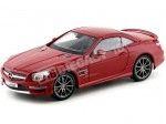 2013 Mercedes-Benz SL 63 AMG Hard Top Rojo Metalizado 1:18 Maisto 36199