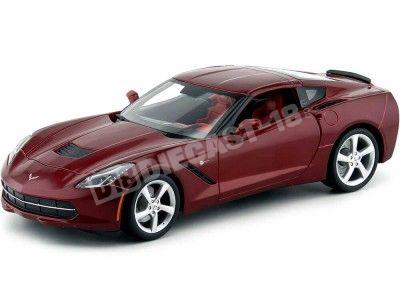 2014 Chevrolet Corvette C7 Stingray Granate 1:18 Maisto 31182 Cochesdemetal.es