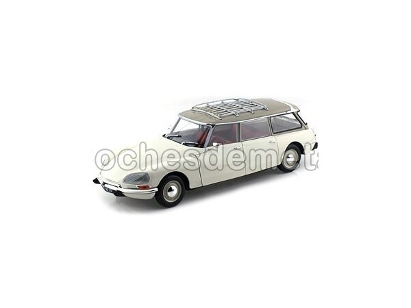 1970 Citroen DS 19 Break Blanco-Crema Norev 181590 Cochesdemetal.es