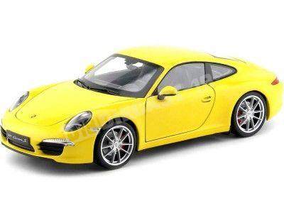 2012 Porsche 911 (991) Carrera S Amarillo 1:18 Welly 18047 Cochesdemetal.es