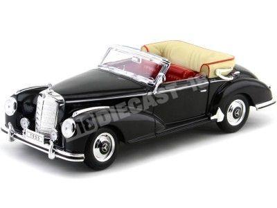 1955 Mercedes-Benz 300S Cabriolet W188 Negro 1:18 Welly 19859 Cochesdemetal.es