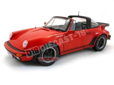 1987 Porsche 911 Turbo 3.3L Targa Rojo Metalizado Norev 187546 Cochesdemetal.es