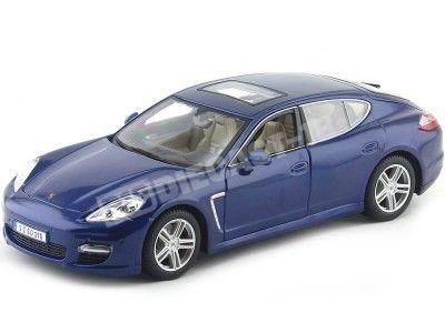 2009 Porsche Panamera S Turbo Azul 1:18 Maisto 36197 Cochesdemetal.es