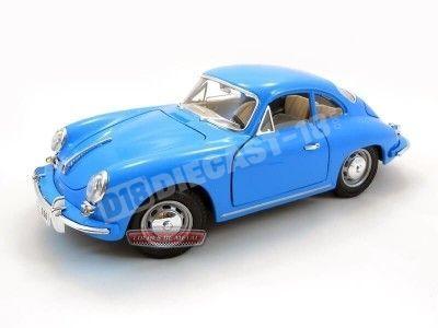 1961 Porsche 356B Coupe Azul 1:18 Bburago 12026 Cochesdemetal.es