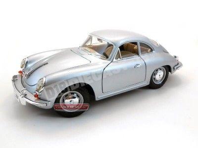 1961 Porsche 356B Coupe Gris 1:18 Bburago 12026 Cochesdemetal.es