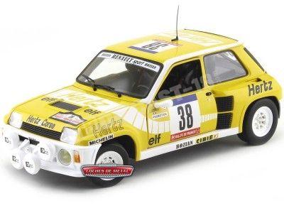 "1984 Renault 5 Turbo Rallye de France ""Hertz"" 1:18 Universal Hobbies 4554 Cochesdemetal.es"