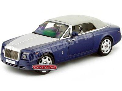 2012 Rolls-Royce Phantom Drophead Coupe Blue Metropolitan Kyosho 08871MB Cochesdemetal.es