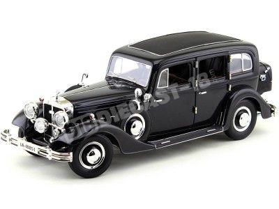1935 Horch 851 Pullman Negro Metalizado 1:18 Ricko 32109 Cochesdemetal.es