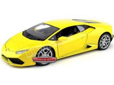 2014 Lamborghini Huracan LP610-4 Amarillo 1:18 Bburago 11038 Cochesdemetal.es
