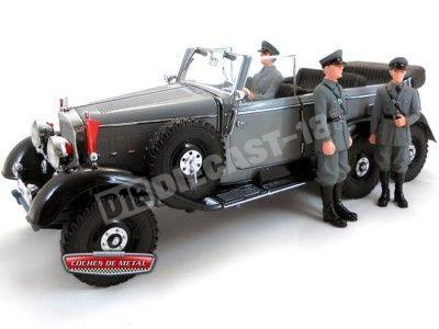 1938 Mercedes-Benz G4 Pullman Cabrio Gris + 3 Soldados Signature 38202 Cochesdemetal.es