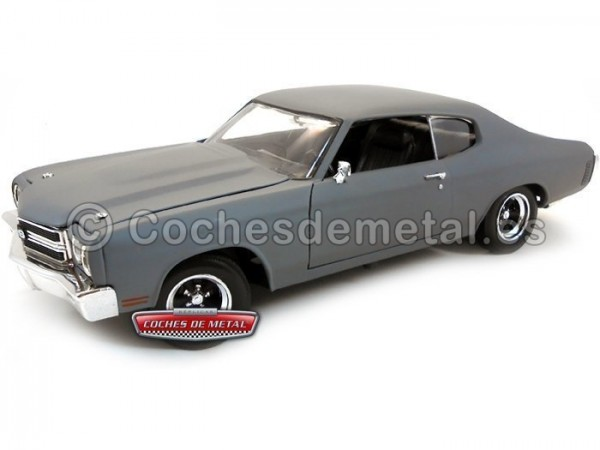 "1970 Chevrolet Chevelle SS ""Fast and Furious IV"" Gris Mate 1:18 ERTL 39579"