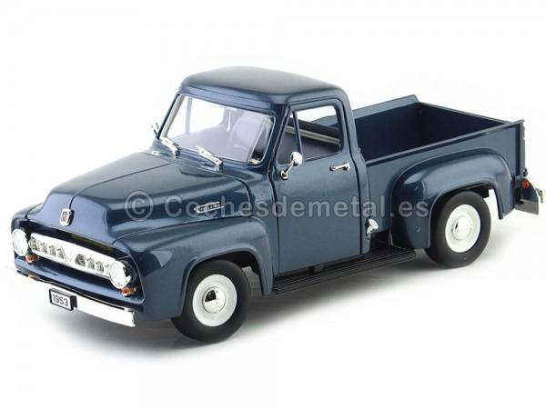 1953 Ford F-100 Pickup Azul Marino 1:18 Lucky Diecast 92148 Cochesdemetal.es