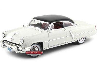 1952 Lincoln Capri Blanco Metalizado 1:18 Lucky Diecast 92808 Cochesdemetal.es