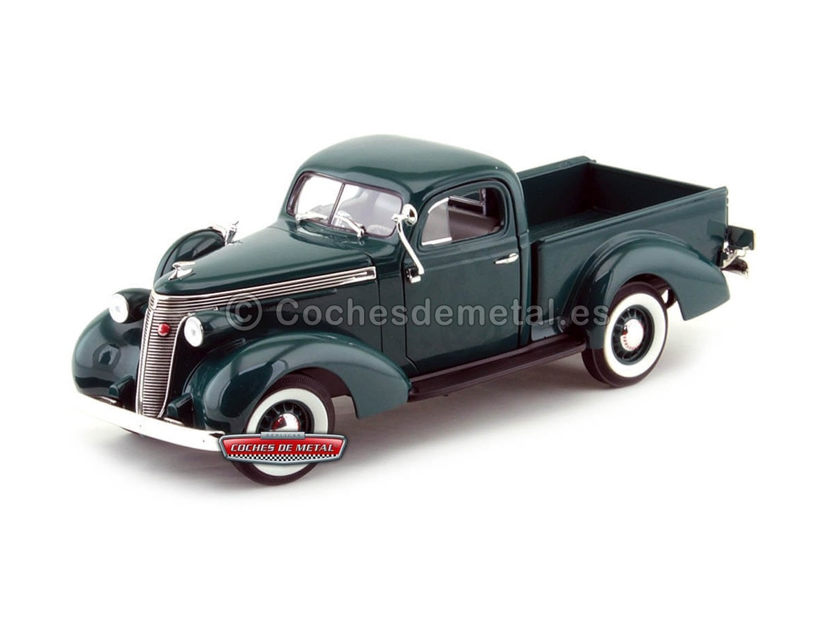 1937 Studebaker Coupe Espress Pick Up Verde 1:18 Lucky Diecast 92458 Cochesdemetal.es