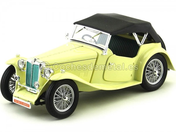 1947 MG TC Midget Convertible Amarillo 1:18 Lucky Diecast 92468 Cochesdemetal.es
