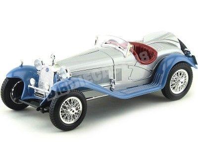 1930 Alfa Romeo 8C 2300 Spider Touring Gris-Azul 1:18 Bburago 12063 Cochesdemetal.es