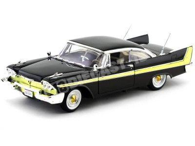 1958 Plymouth Fury Negro 1:18 Motor Max 73115 Cochesdemetal.es