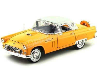 1956 Ford Thunderbird Hard Top Naranja 1:18 Motor Max 73176 Cochesdemetal.es