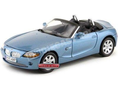 2002 BMW Z4 3.0i Roadster Azul 1:18 Motor Max 73144 Cochesdemetal.es