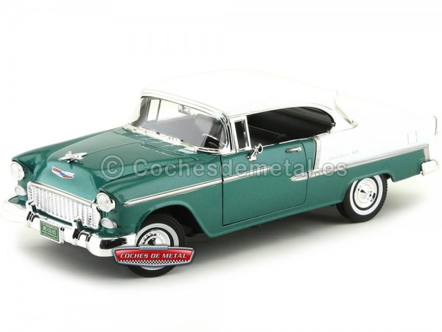 1955 Chevrolet Bel Air Hard Top Verde-Blanco Motor Max 73185 Cochesdemetal.es