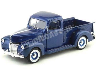 1940 Ford Pickup Truck Azul Marino 1:18 Motor Max 73170 Cochesdemetal.es