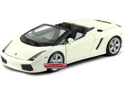 2000 Lamborghini Gallardo Spyder Blanco Perla 1:18 Maisto 31136 Cochesdemetal.es