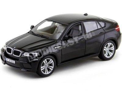 2010 BMW X6 M Negro Metalizado 1:18 Bburago 12081 Cochesdemetal.es
