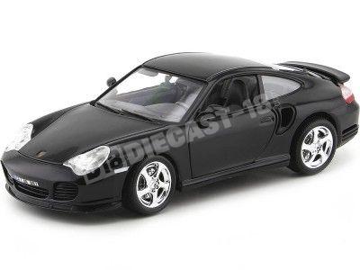 1999 Porsche 911 (966) Turbo Negro 1:18 Bburago 12030 Cochesdemetal.es