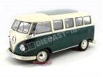 1962 Volkswagen T1 Classical Microbus Verde-Blanco 1:18 Welly 12531