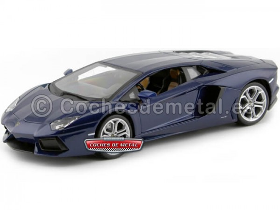 2011 Lamborghini Aventador LP700-4 Azul marino 1:18 Bburago 11033 Cochesdemetal.es