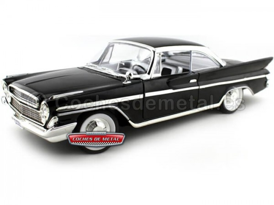 1961 Desoto Adventurer Negro Metalizado 1:18 Lucky Diecast 92738 Cochesdemetal.es