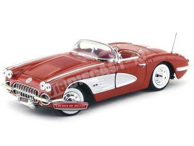 1958 Chevrolet Corvette Convertible Rojo 1:18 Motor Max 73109 Cochesdemetal.es