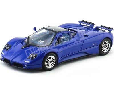 2003 Pagani Zonda C12 Azul 1:18 Motor Max 73147 Cochesdemetal.es