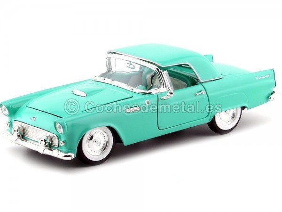1955 Ford Thunderbird Convertible Turquesa 1:18 Lucky Diecast 92068 Cochesdemetal.es