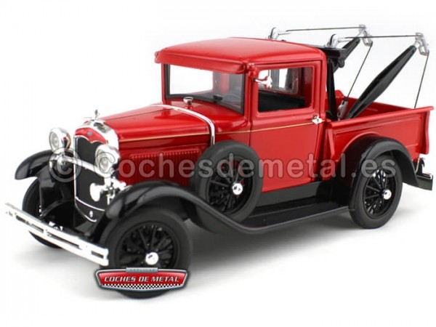 1931 Ford Model A Tow Truck Rojo 1:18 Signature Models 18116 Cochesdemetal.es