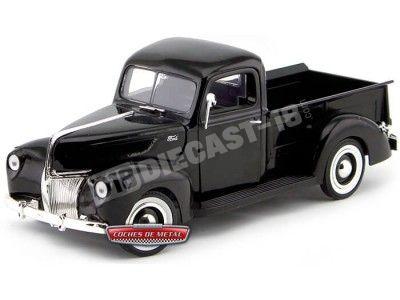 1940 Ford Pickup Truck Negro 1:18 Motor Max 73170 Cochesdemetal.es