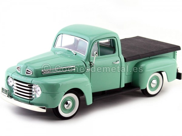 1948 Ford F-1 Pick Up Verde claro 1:18 Lucky Diecast 92218 Cochesdemetal.es