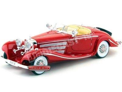 1936 Mercedes-Benz 500K TYP Specialroadster Rojo Brillante 1:18 Maisto 36862 Cochesdemetal.es
