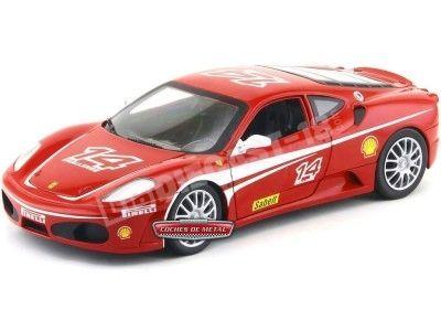 2005 Ferrari F430 Challenge Rojo 1:18 Hot Wheels P4403 Cochesdemetal.es