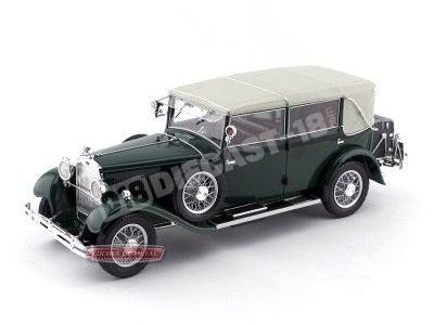 1932 Skoda 860 Verde-Blanco 1:18 Abrex 905BJ Cochesdemetal.es