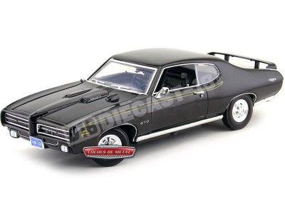 1969 Pontiac GTO Judge Negro 1:18 Motor Max 73133 Cochesdemetal.es
