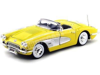 1958 Chevrolet Corvette Convertible Amarillo 1:18 Motor Max 73109 Cochesdemetal.es
