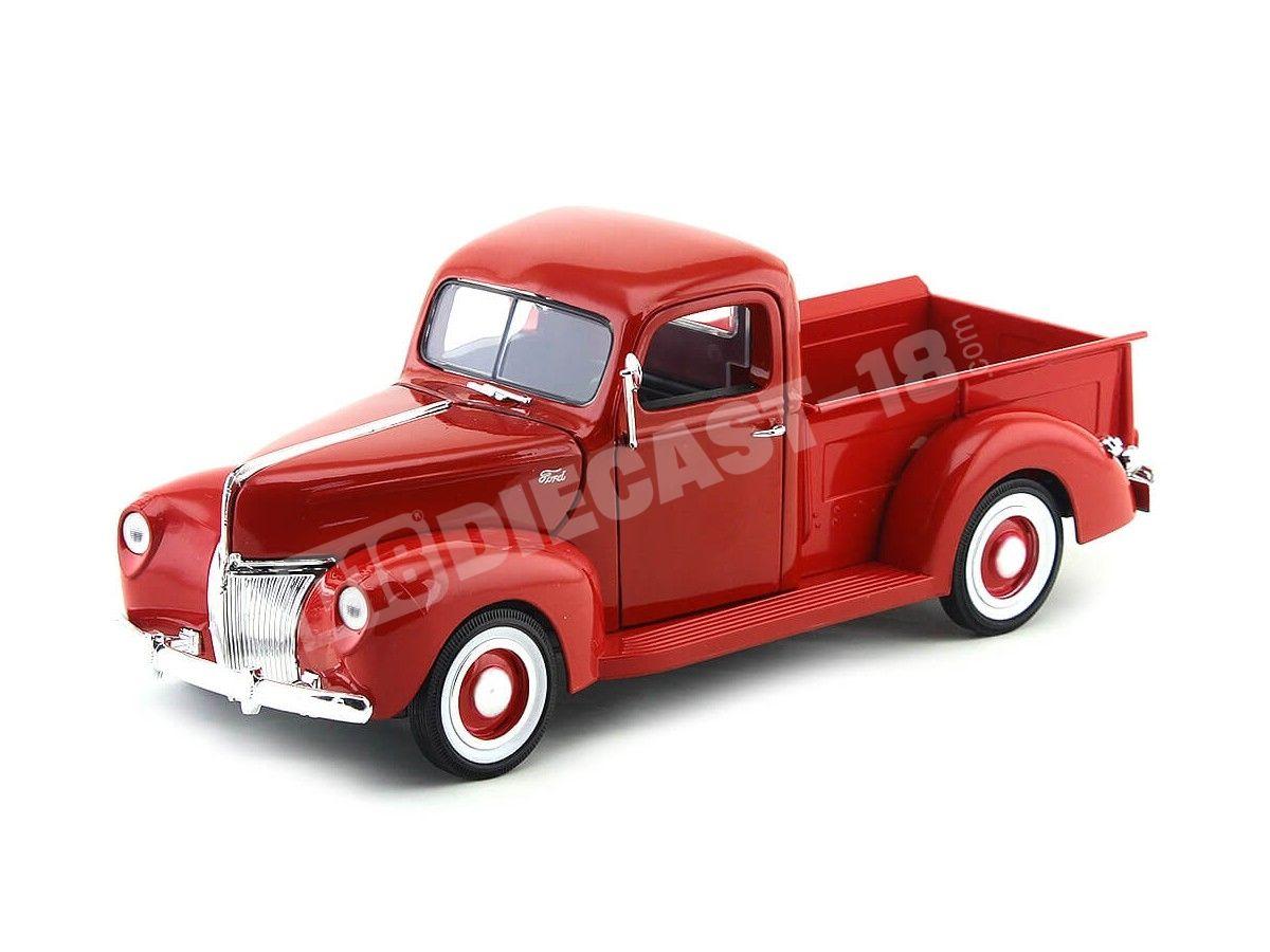 1940 Ford Pickup Truck Rojo 1:18 Motor Max 73170 Cochesdemetal.es