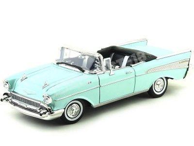 1957 Chevrolet Bel Air Open Convertible Verde 1:18 Motor Max 73175 Cochesdemetal.es