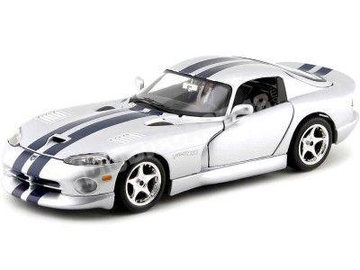1996 Dodge Viper GTS Coupe Gris-Azul 1:18 Bburago 12041 Cochesdemetal.es