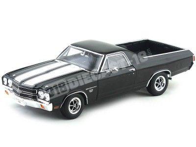 1970 Chevrolet El Camino SS 396 Negro 1:18 Welly 12543 Cochesdemetal.es